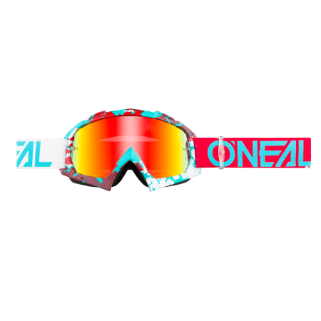 B-10 GOGGLE PIXEL RED-TEAL - RADIUM1